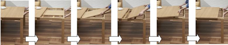 伸長式テーブル ロサリオ