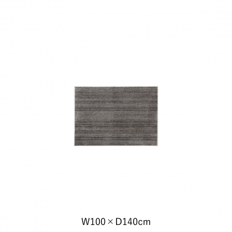 リュストル 100X140 Dグレー スペースカーペット