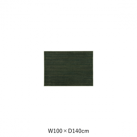 リュストル 100X140 Fグリーン スペースカーペット