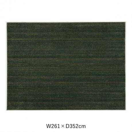 リュストル 261X352 Fグリーン  スペースカーペット