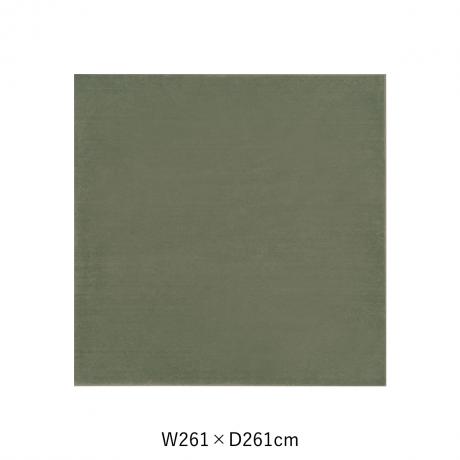 カーム 261X261 ダークグリーン スペースカーペット