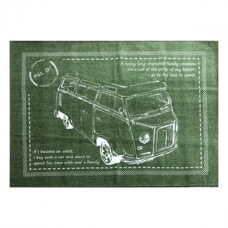 アーリー 130X185 グリーン プリントラグ