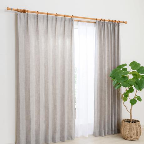 FPアウラ GRY 100X135 4Pカーテン