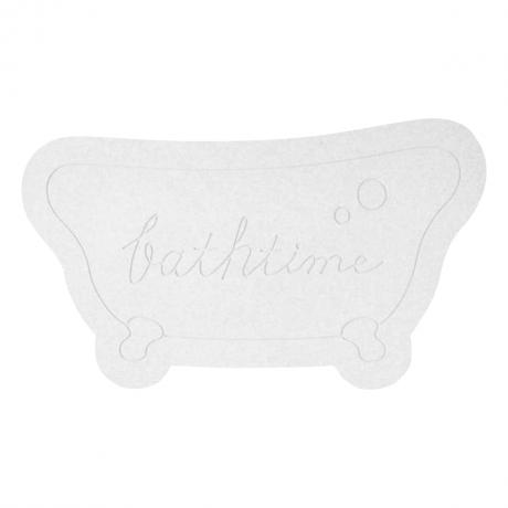 &NE ケイソウドモチーフバスマット Bathtime ホワイト NIT-067-WH
