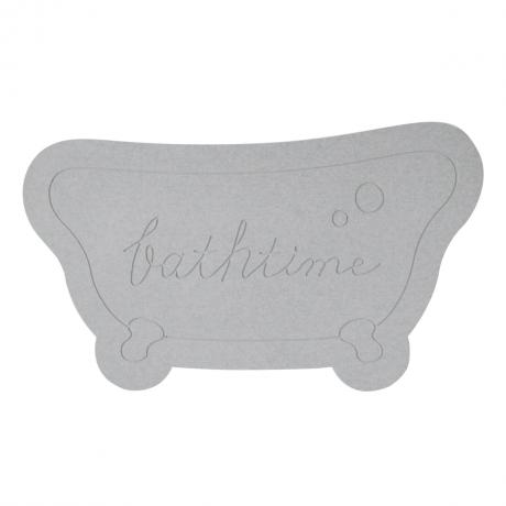 &NE ケイソウドモチーフバスマット Bathtime グレー NIT-067-GY