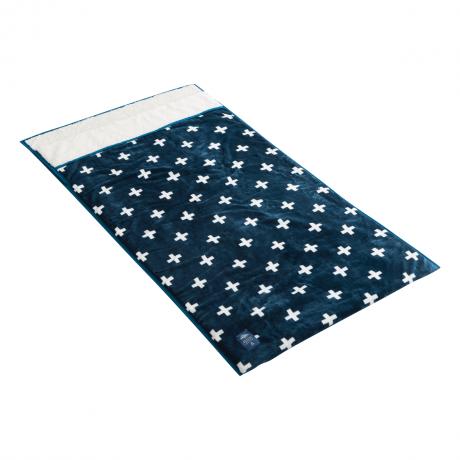 ㈱シービージャパン 包まれる毛布モケット 柄ネイビー【数量限定】